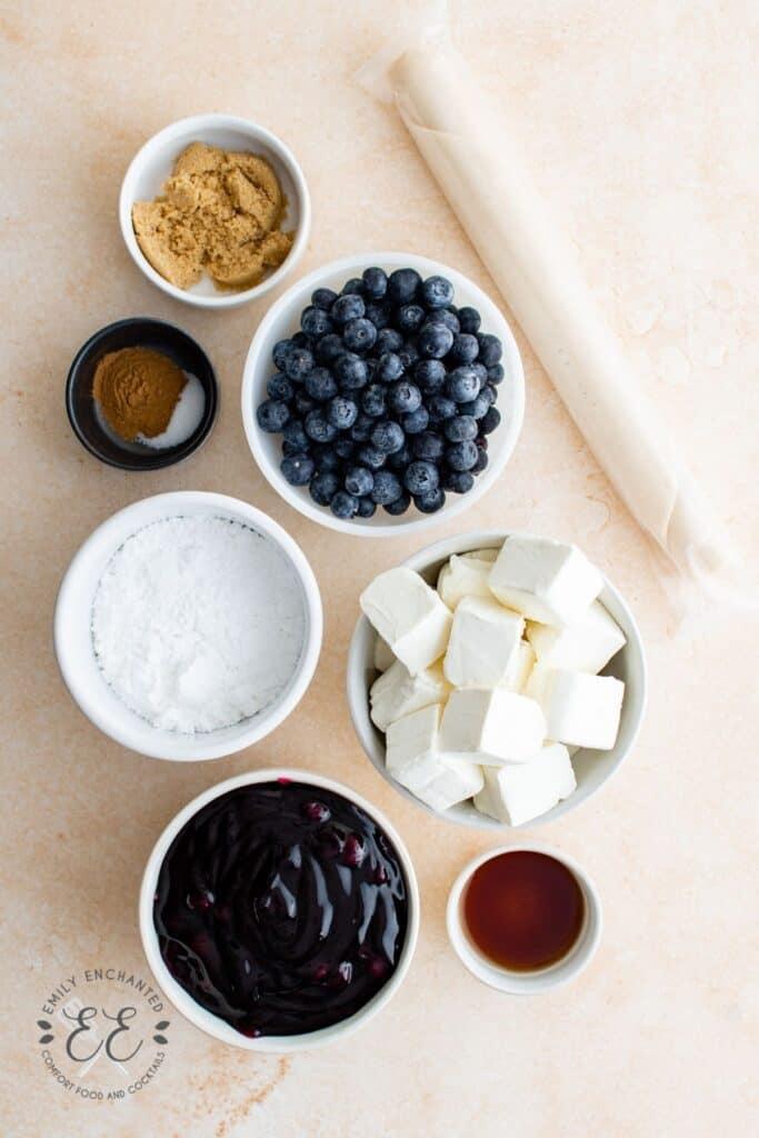 Blueberry Cream Cheese Pie Ingredients