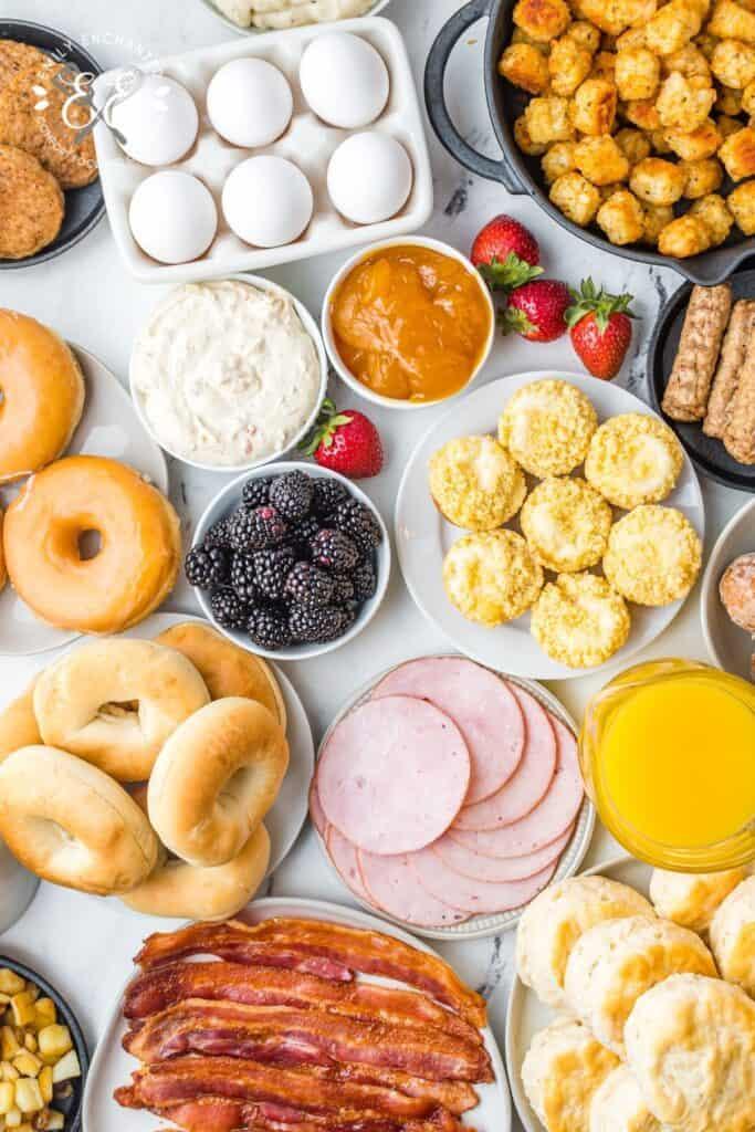 Ingredients for Breakfast Charcuterie Board