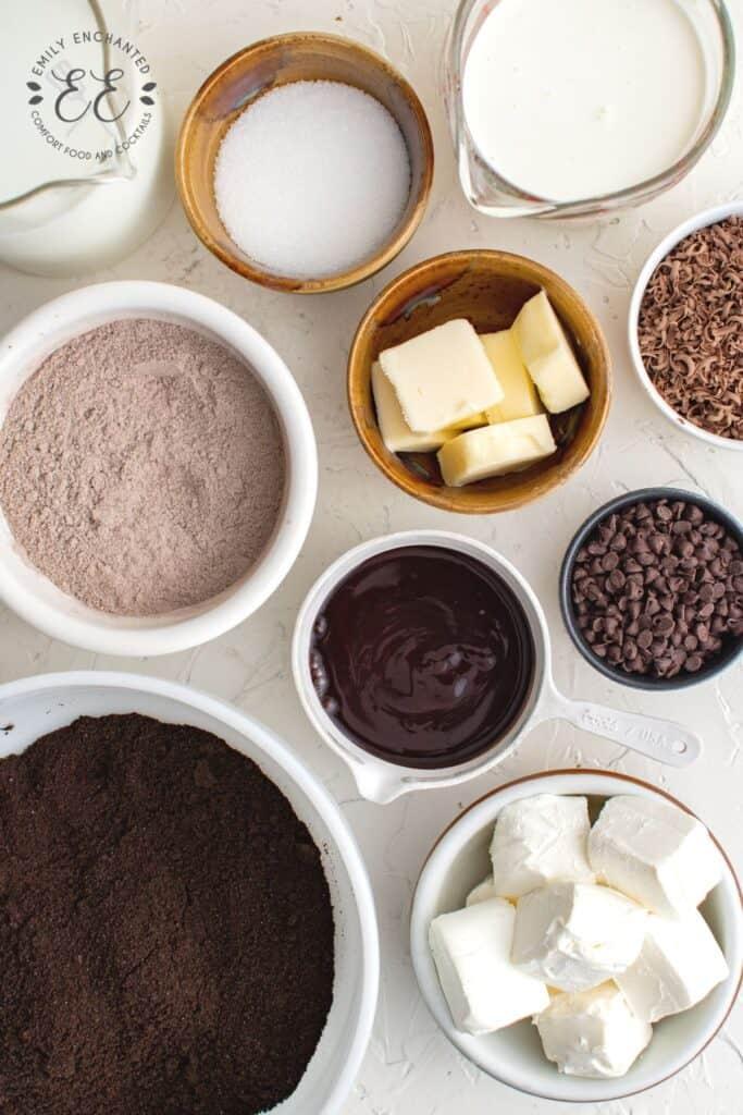 Chocolate Lasagna Ingredients