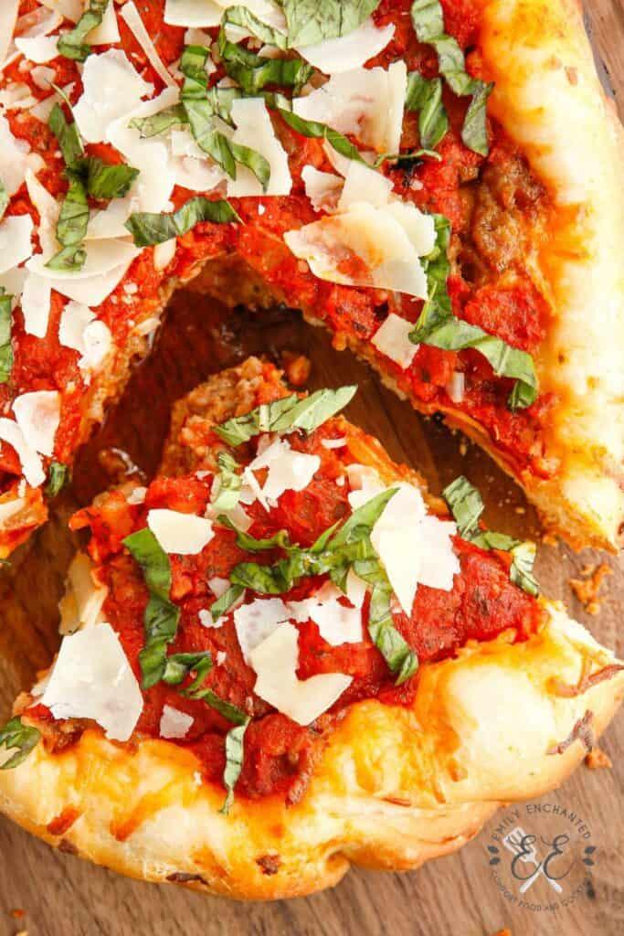 Crock Pot Chicago Style Deep Dish Pizza