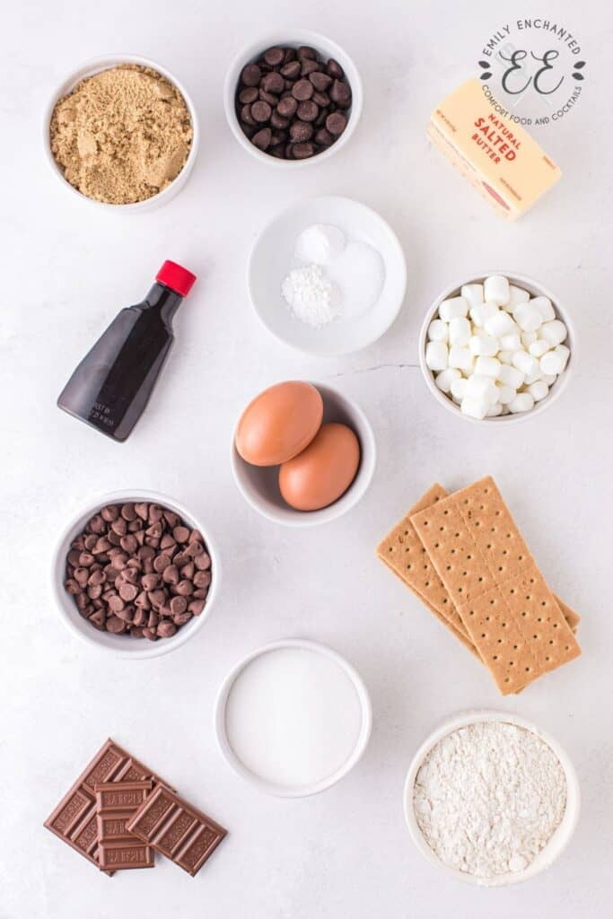 S'mores Skillet Cookie Ingredients