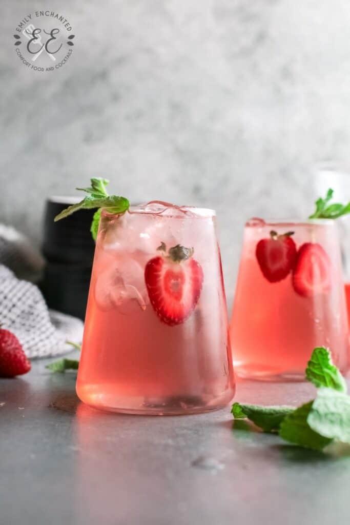 Strawberry Basil Gin Rickey