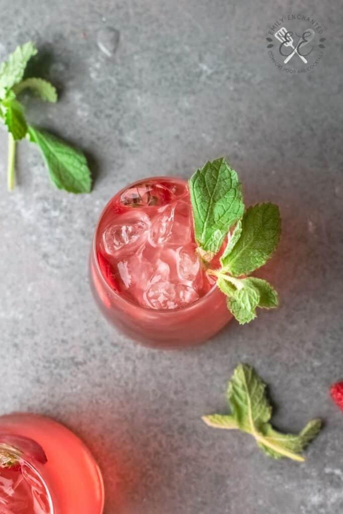 Strawberry Gin Rickey Cocktail