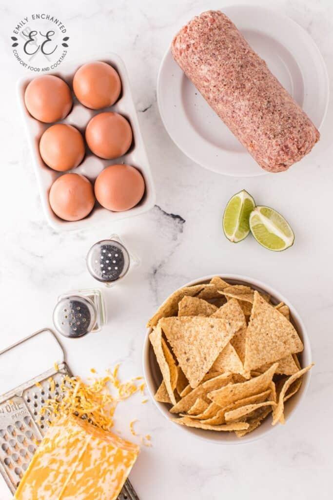 Breakfast Nacho Ingredients