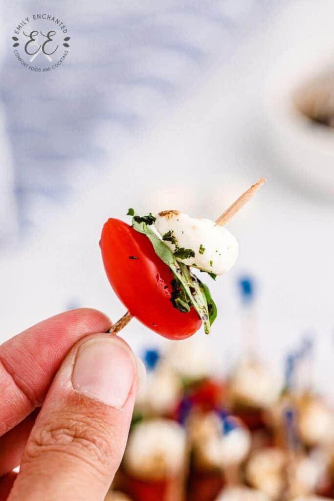 Caprese Salad Skewer Recipe