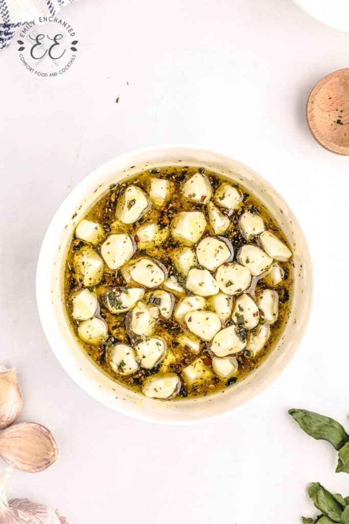 Mozzarella Balls Marinated in Olive Oil