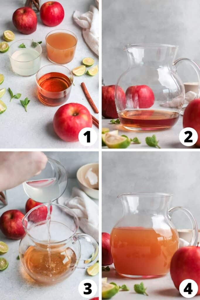 Apple Cider Mojito with Rum