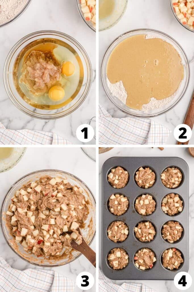Cinnamon Muffins with Apple