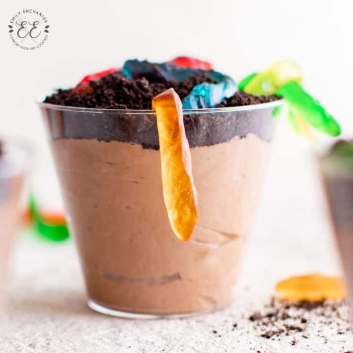 Dirt and Worms Pudding Dessert