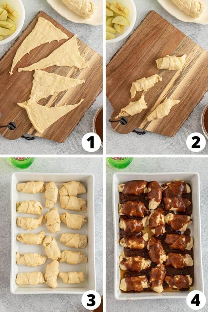 Apple Dumplings with Brown Sugar Sauce