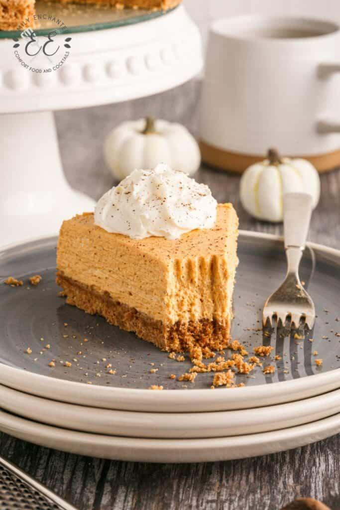 No Bake Pumpkin Spice Cheesecake