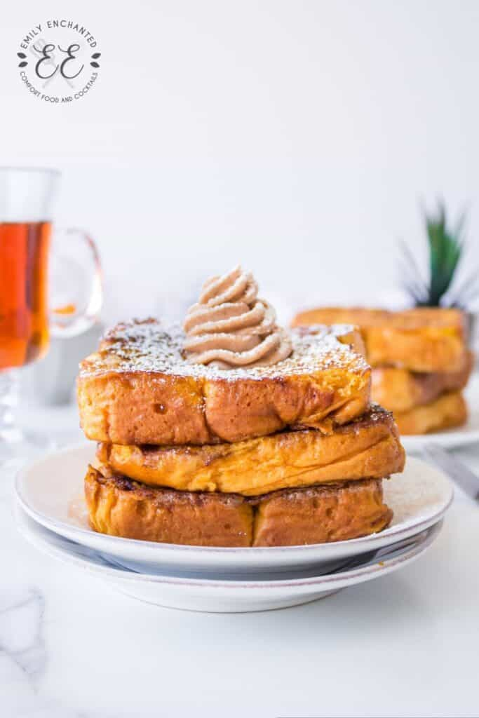 Pumpkin French Toast with Whipped Maple Cinnamon Butter