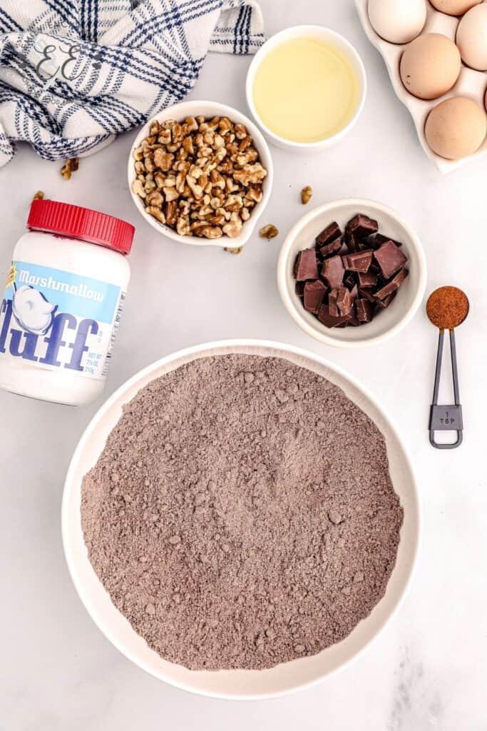 Rocky Road Brownies Ingredients