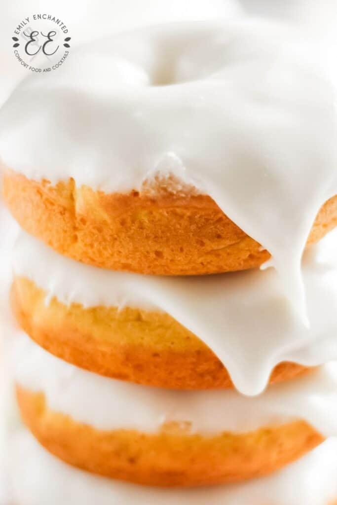 Easy Pumpkin Doughnuts with Cream Cheese Glaze
