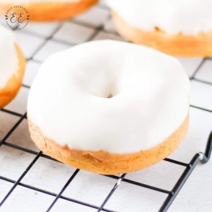 Pumpkin Doughnuts with Cream Cheese Glaze