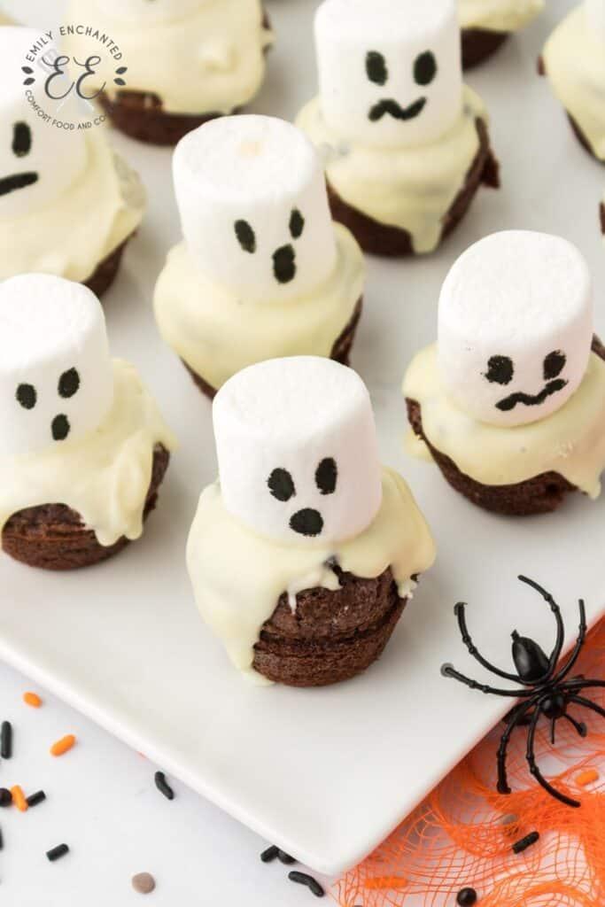 Ghost Brownie Bites
