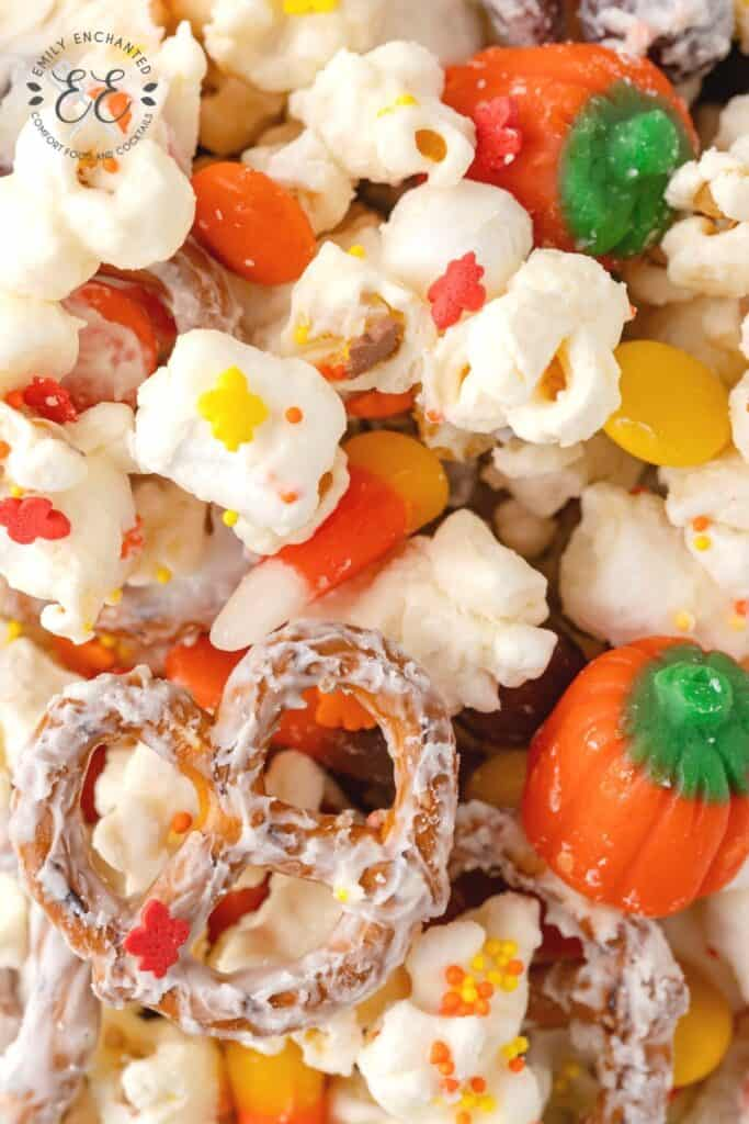 Chocolate Covered Popcorn for Halloween