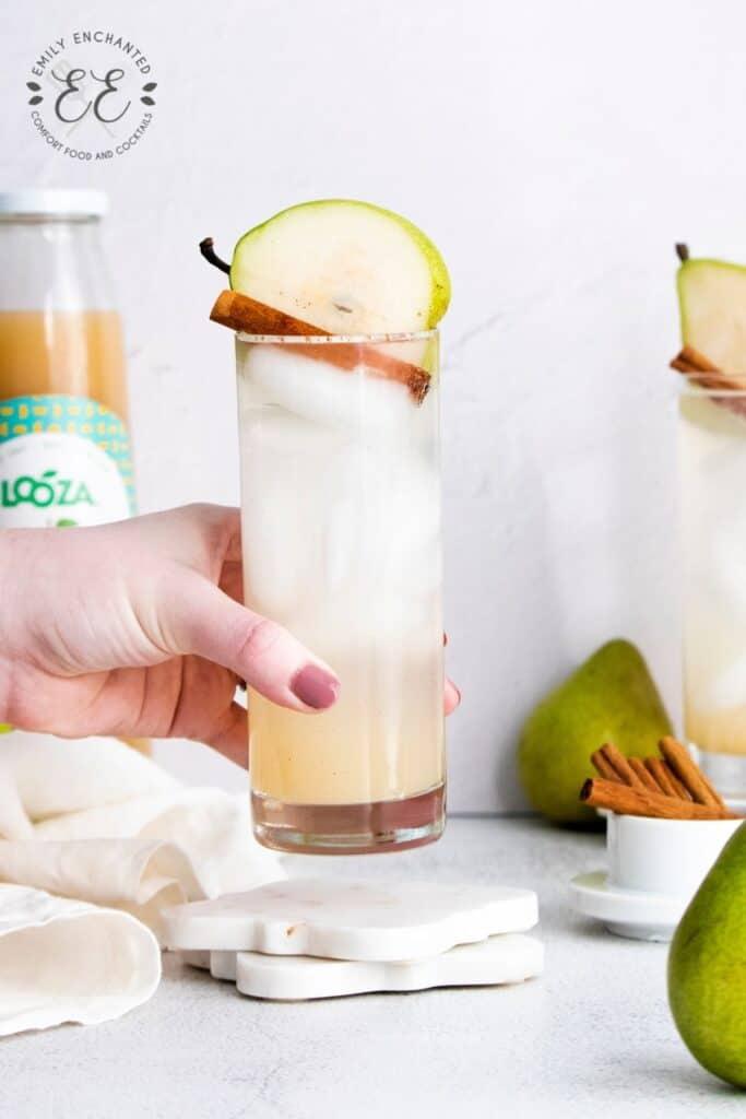 Cinnamon Pear Gin Fizz