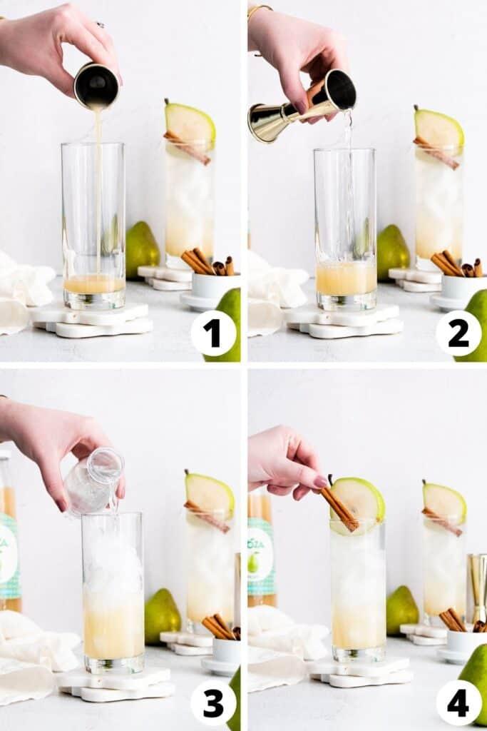 Pear Cinnamon Gin Fizz