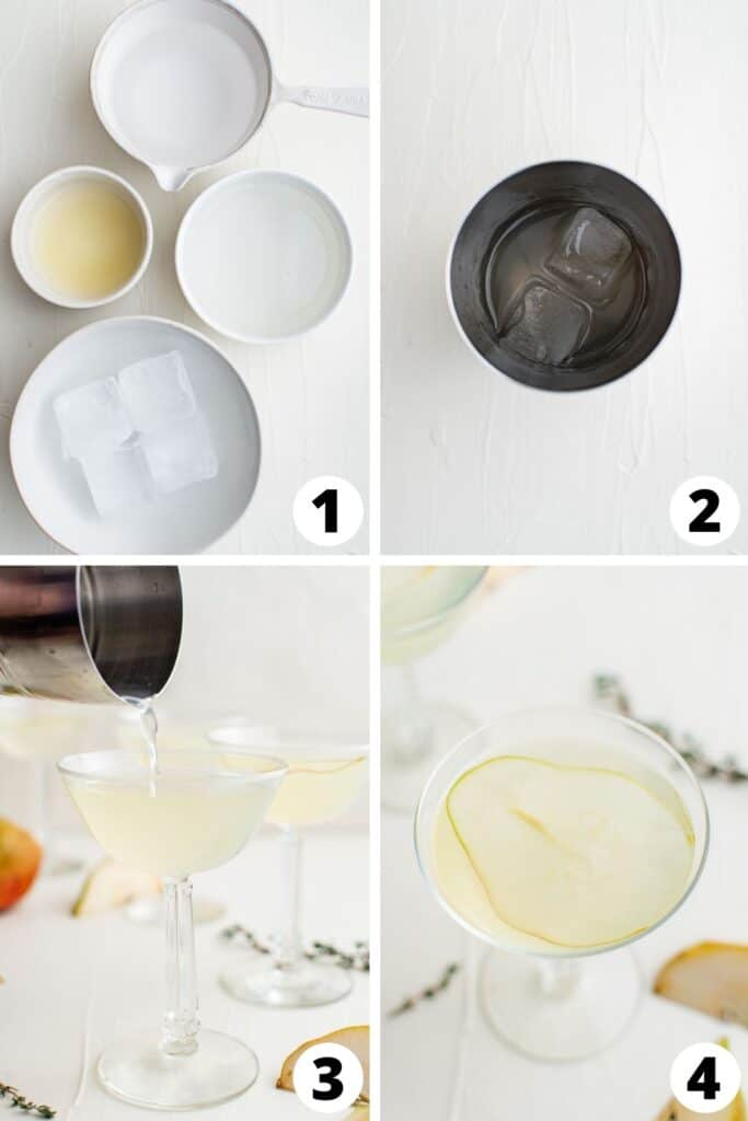 Martini with Pear Vodka