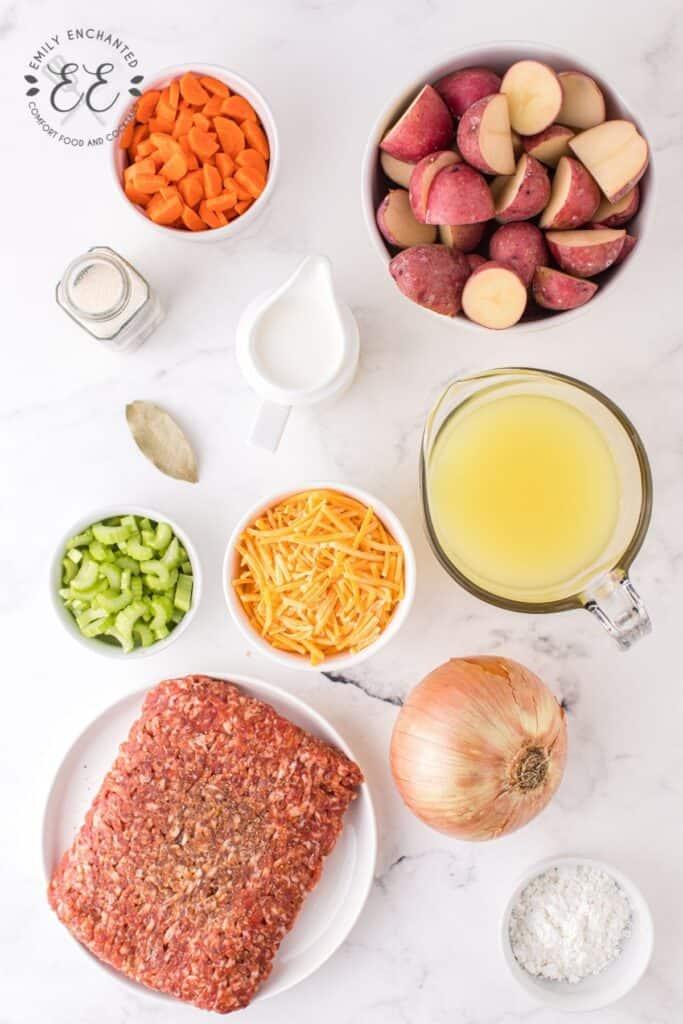 Sausage Potato Soup Ingredients