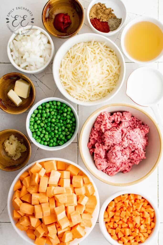 Sweet Potato Shepherd's Pie Ingredients