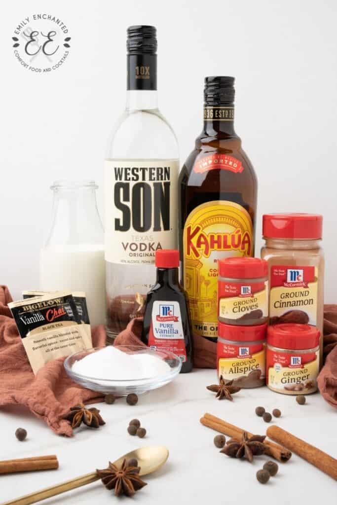 Vanilla Chai White Russian Ingredients